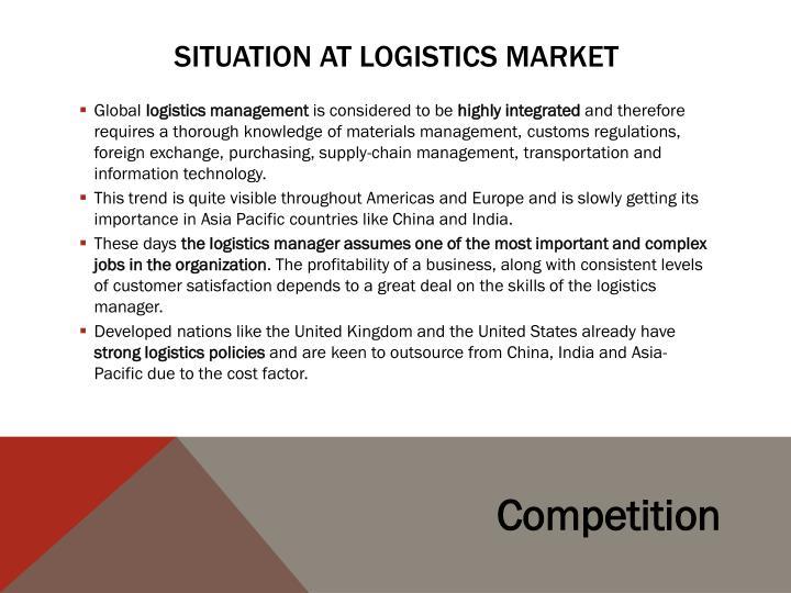 Situation at Logistics market