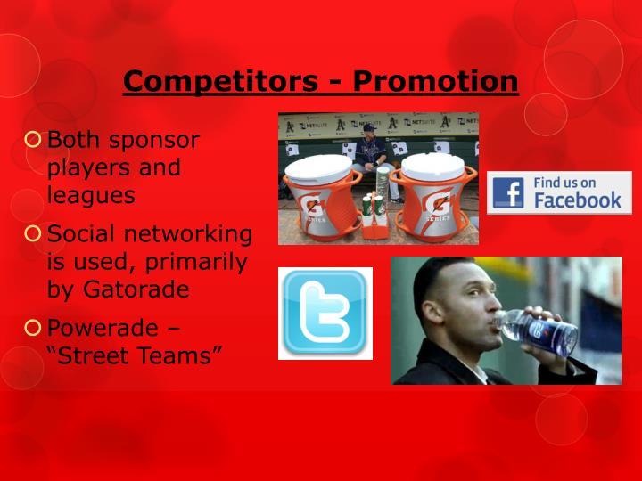 Competitors - Promotion