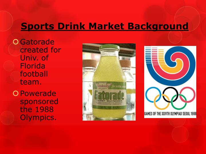 Sports Drink Market Background