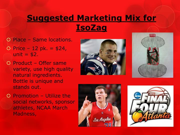 Suggested Marketing Mix for IsoZag