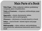 main parts of a book