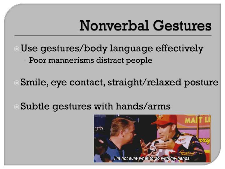 Nonverbal Gestures