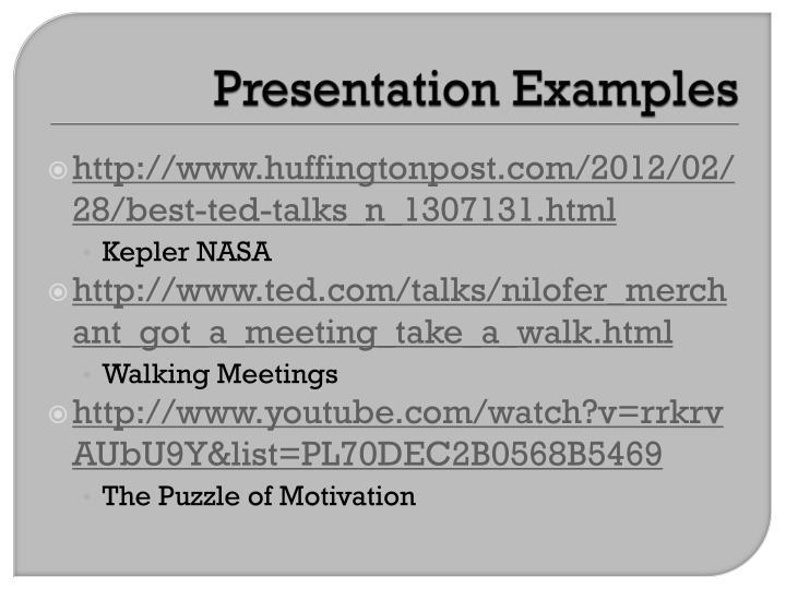 Presentation Examples