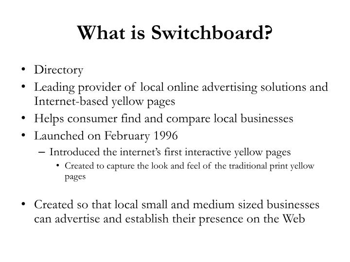 What is Switchboard?