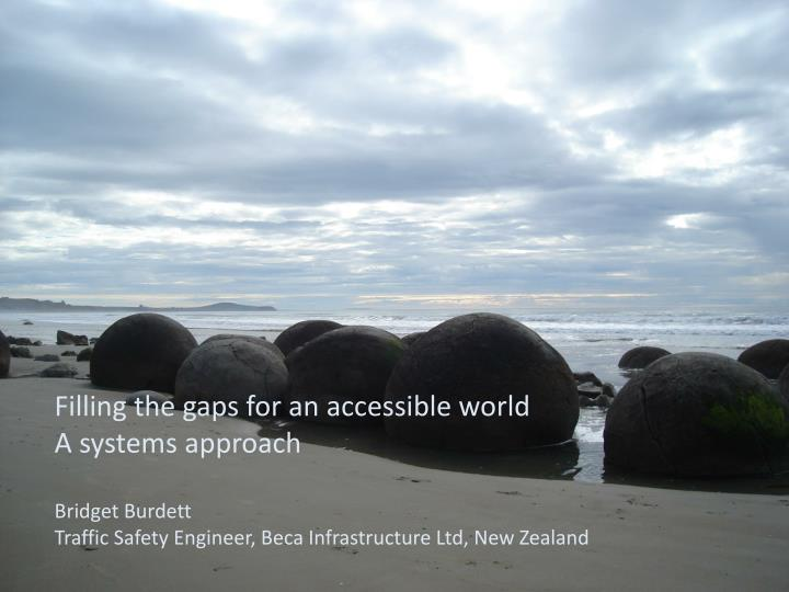 Filling the gaps for an accessible world