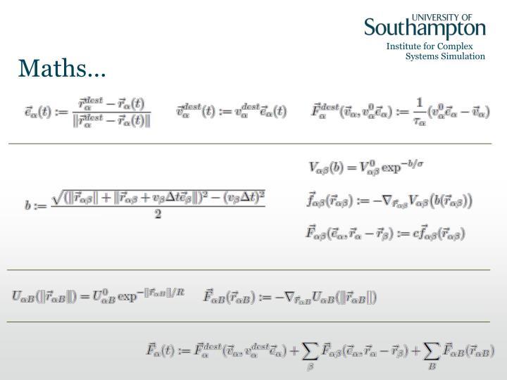 Maths…