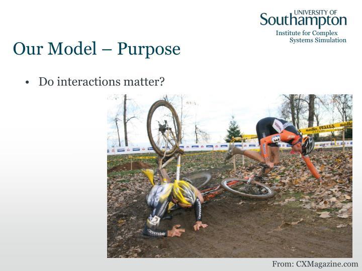 Our Model – Purpose
