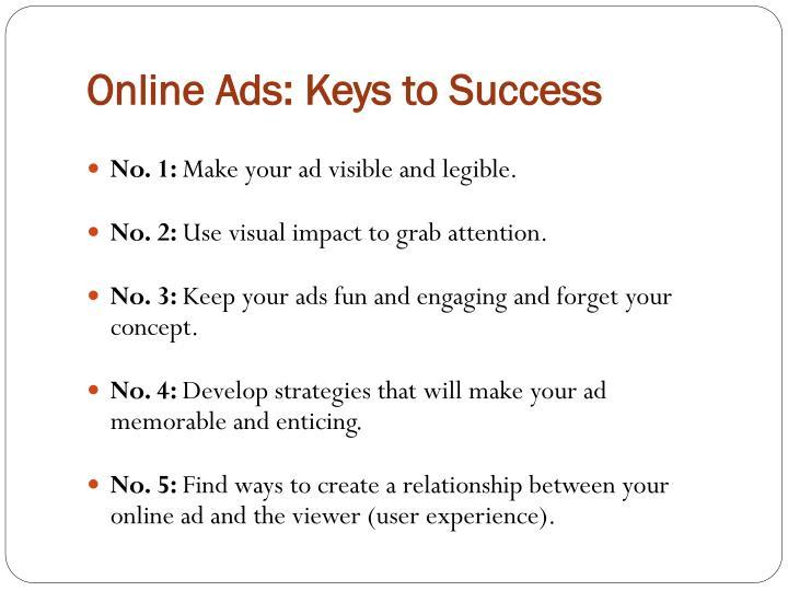 Online Ads: Keys to Success