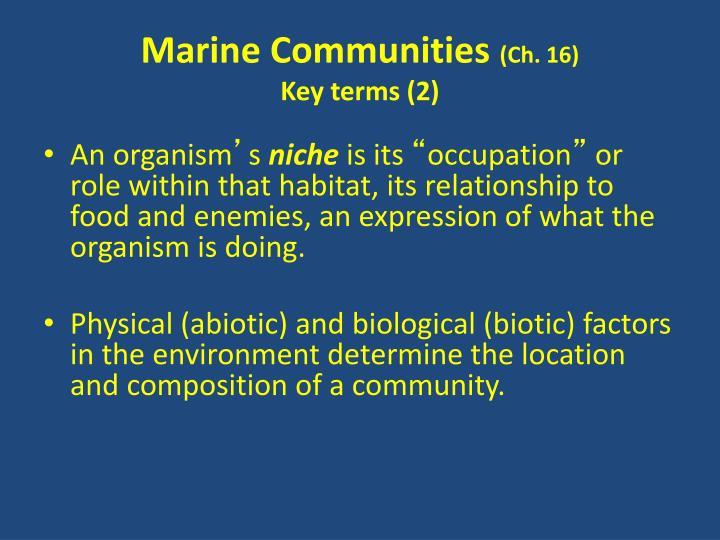 Marine Communities