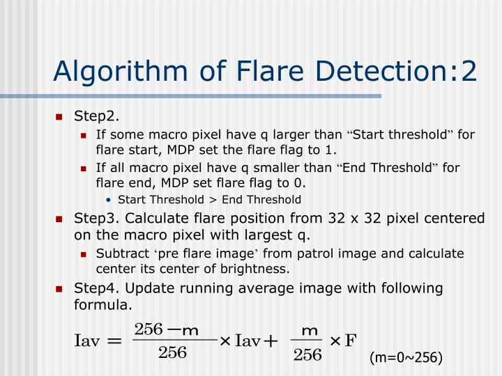 Algorithm of Flare Detection:2