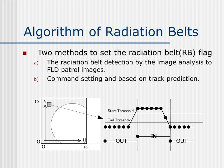 Algorithm of Radiation Belts