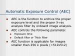 automatic exposure control aec