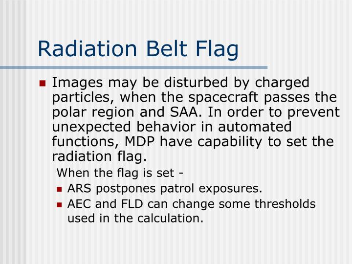 Radiation Belt Flag