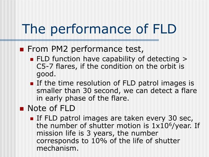 The performance of FLD