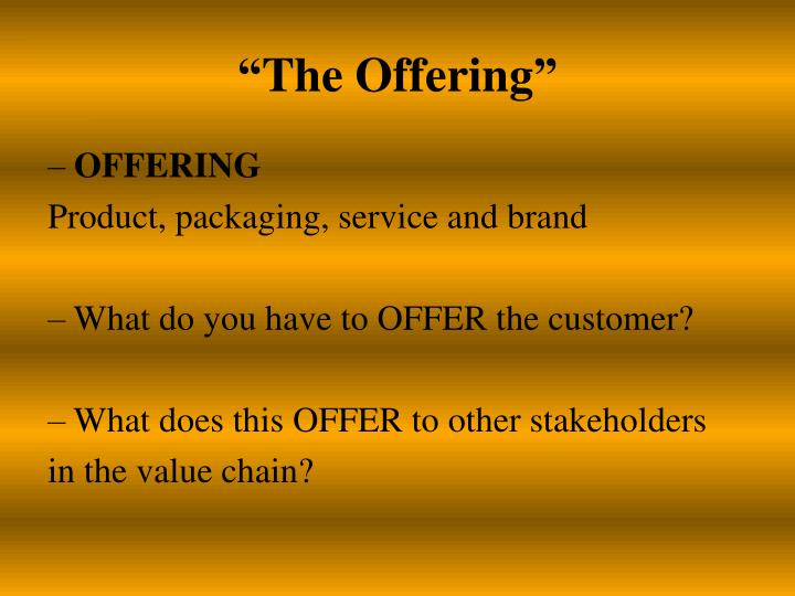 """""""The Offering"""""""