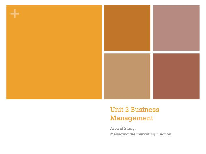 unit 2 business management