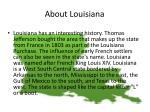 about louisiana