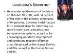 louisiana s governor