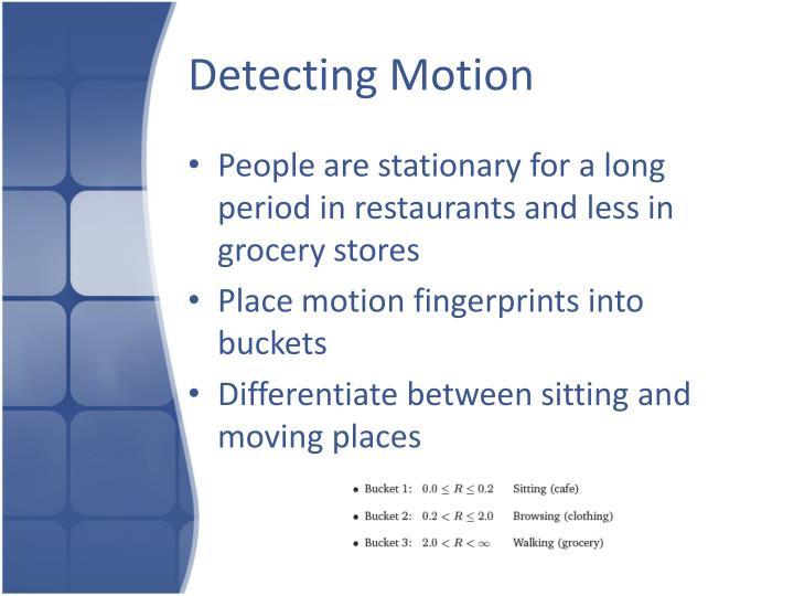 Detecting