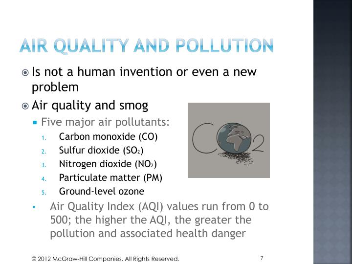 Air quality and pollution