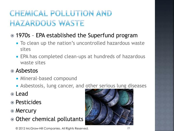 Chemical Pollution and hazardous waste