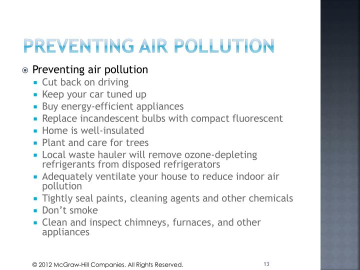 PREVENTING AIR POLLUTION
