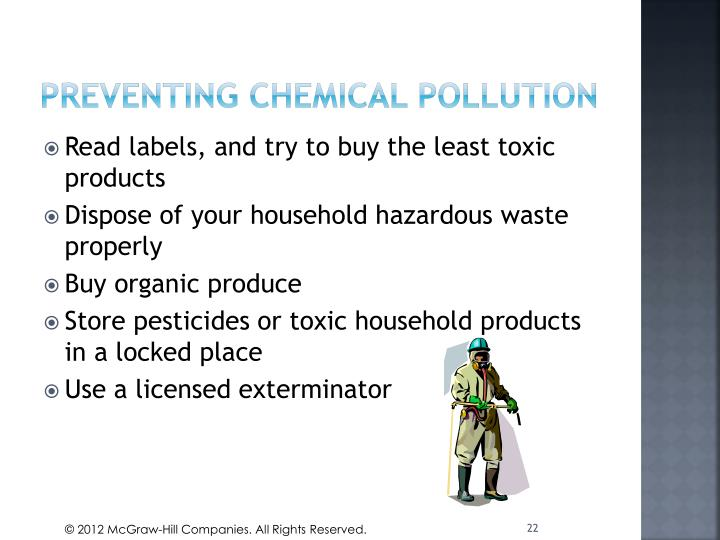 Preventing chemical pollution