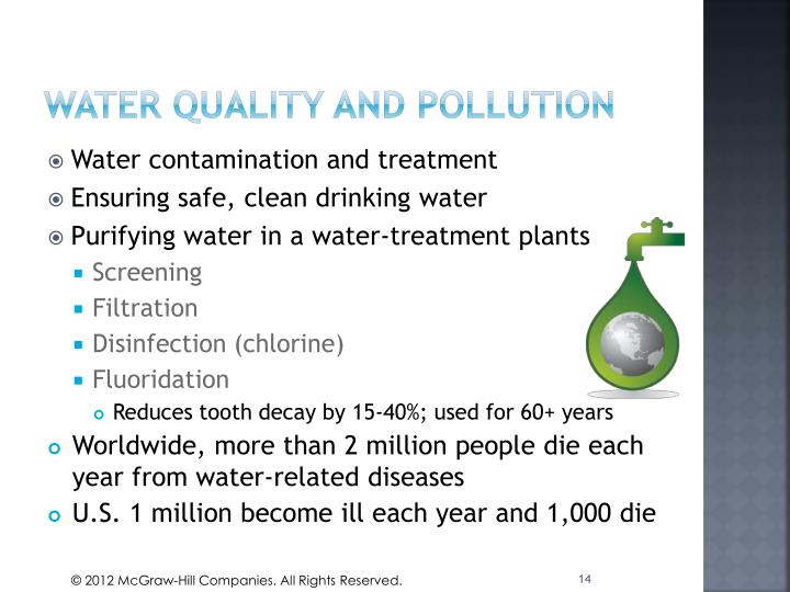 Water quality and pollution