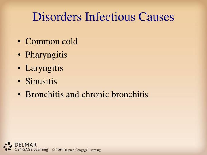 Disorders Infectious Causes