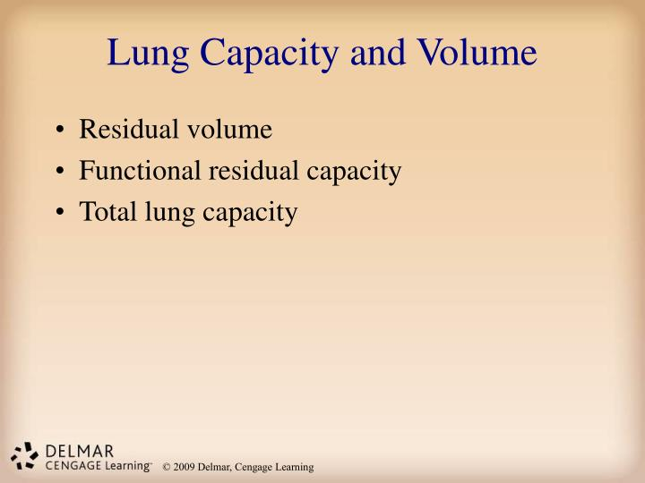 Lung Capacity and Volume