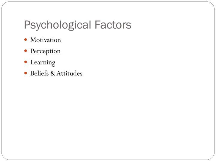Psychological Factors