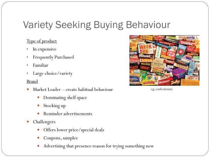 Variety Seeking Buying