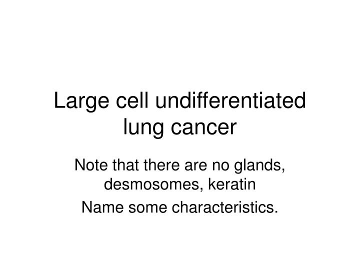 Large cell undifferentiated lung cancer