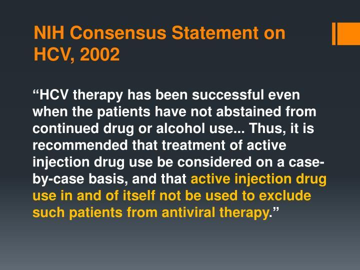 NIH Consensus Statement on HCV, 2002