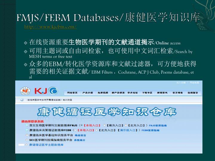 FMJS/FEBM Databases/