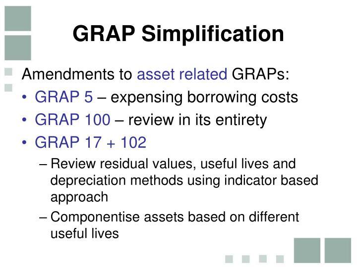GRAP Simplification
