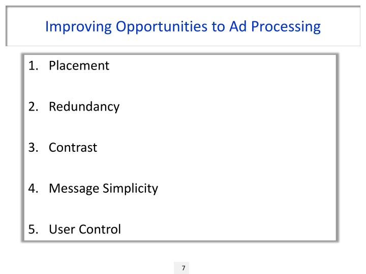 Improving Opportunities to Ad Processing