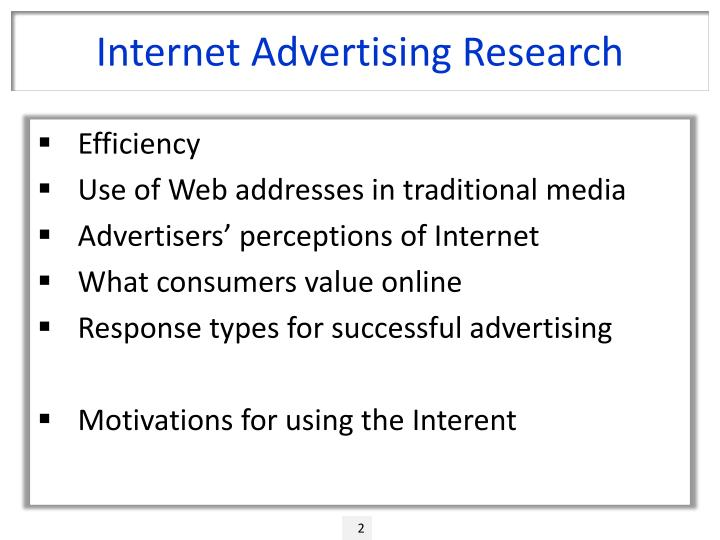 Internet advertising research
