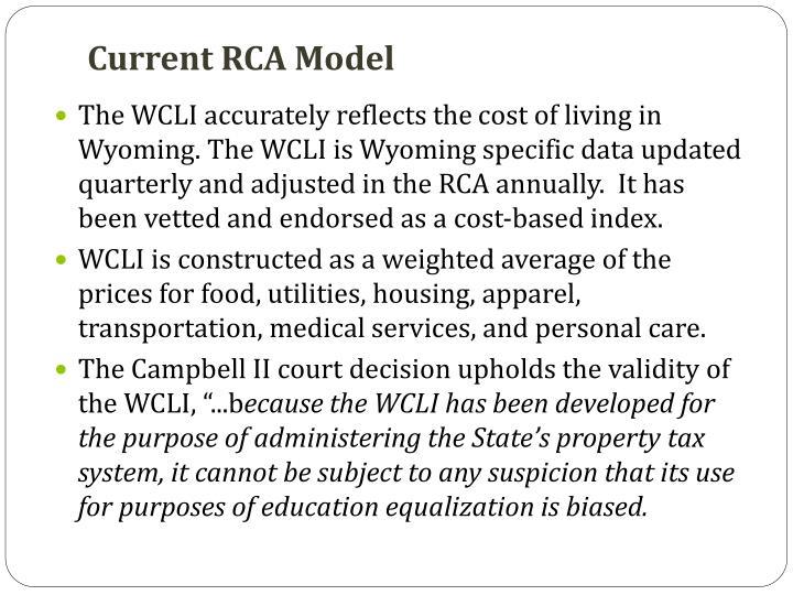 Current RCA Model
