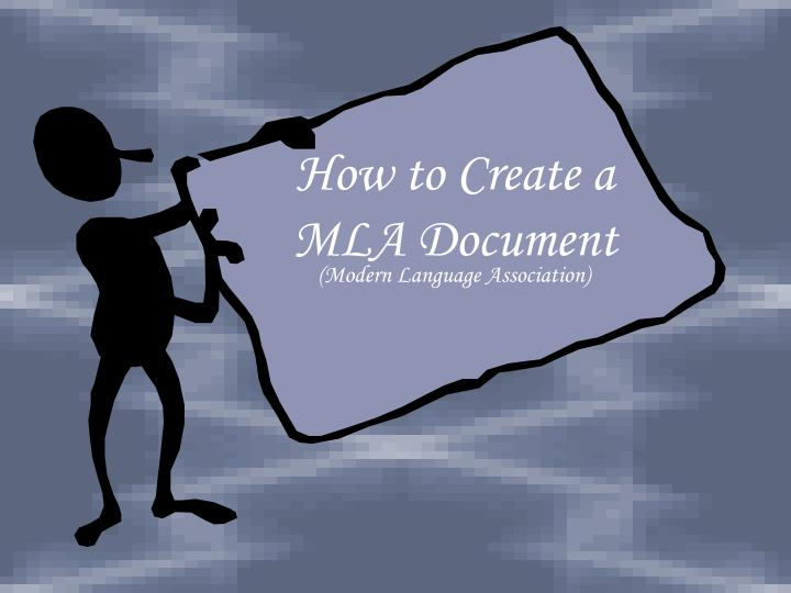 how to create a mla document