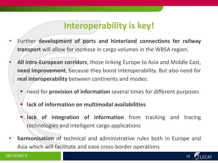 Interoperability is key!