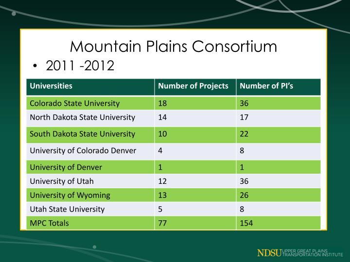 Mountain Plains Consortium