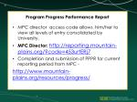 program progress performance report3