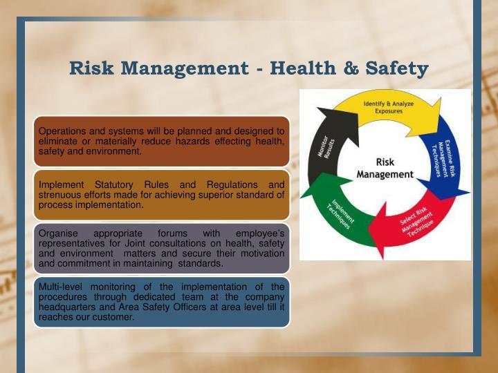 Risk Management - Health & Safety