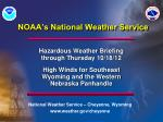 noaa s national weather service