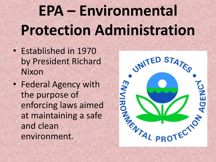 EPA – Environmental Protection Administration