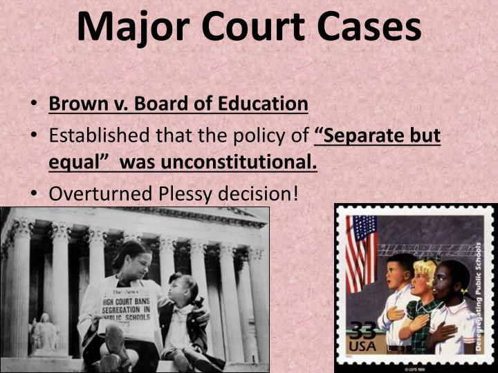 Major Court Cases
