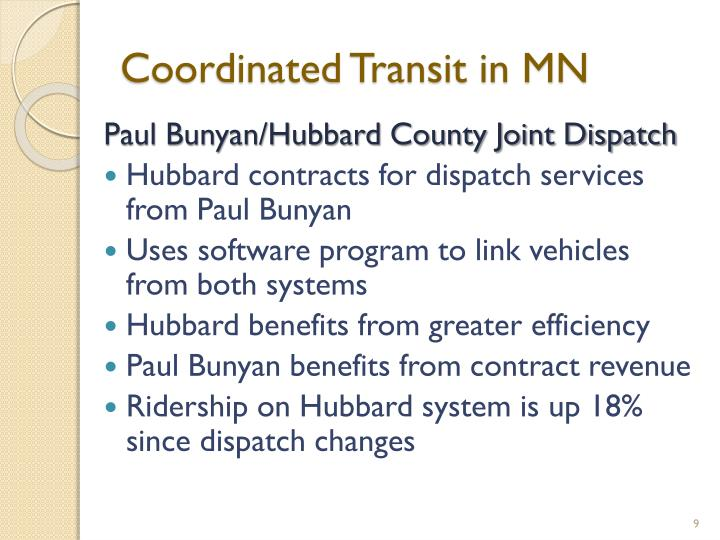 Coordinated Transit in MN