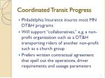 coordinated transit progress