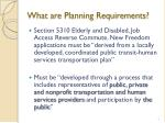 what are planning requirements